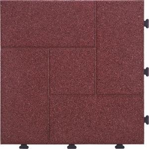Anti Slip Recycled Playground And Sports Rubber Interlocking Flooring Tile