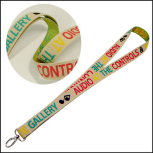 Silk/Satin Woven/Jacquard/Knitting Logo Custom Lanyard for Show pictures & photos