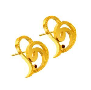 Heart Ear Stud Women Fashion Jewelry 316L Stainless Steel