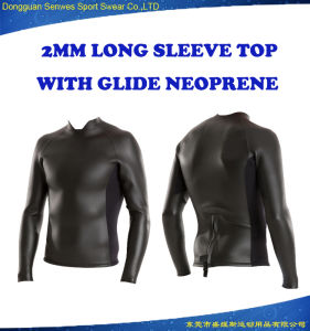 Customized Australia Glide Neoprene Jacket Short Back Zip Surfing Suit