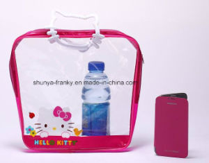 Kids Cosmetic Packing Bag with Zipper and Handle Hello Kitty pictures & photos