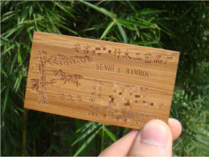 laser carved printing bamboo eco friendly and beautiful business card