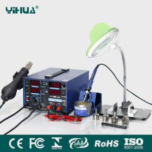Yihua 853D 2A USB 3in1 Mobile Repair Soldering Station with Magnifier Lamp with Bracket Plate+ Small Electronic Board Fixture pictures & photos