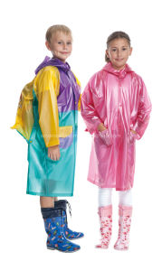 PVC Rain Coat for Children Fashion Design pictures & photos