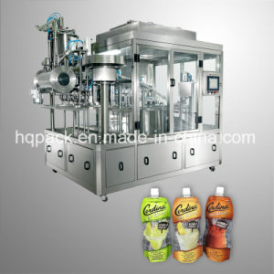 Liquid Beverage Filling and Capping Machine for Plastic Pouch