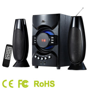 2.1CH Multimedia Speaker with Tower Satellite and Super Bass USB/SD/FM/Bluetooth