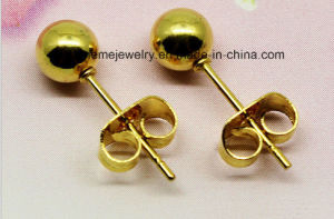 Shineme Fashion Jewelry Stainless Steel Plating Gold Ear Stud pictures & photos