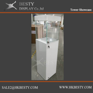 Jewelry Tower Display Showcase with LED Light