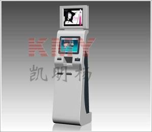 Double Screens Queue Management System Kiosk with Printer pictures & photos