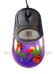 Real New Insect Amber Optical Mouse