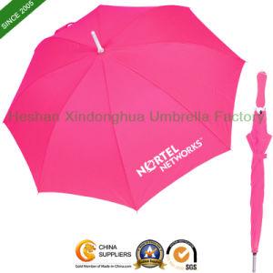 Quality Aluminium Fiberglass Stick Umbrella with Matched Color Handle (GOL-0023AFP)