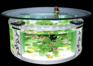 Glass Tea Table Aquarium/Acrylic Table Fish Tank (CJ-005)
