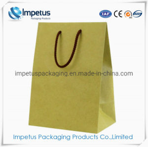 Custom Size Logo Printed Handbags Gift Brown Small Plain Kraft Paper Bags With Handles