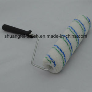 "9"" Pile 12mm Blue & Green Stripe Acrylic Paint Roller with Handle pictures & photos"