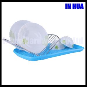 Durable Plastic Chrome Plated Dish Drainer
