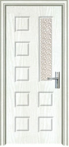 Glass Panel PVC Bathroom Door (PVC bathroom door) pictures & photos