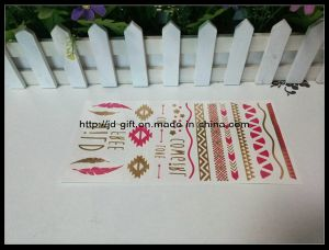 New Fashionable Mixed Red $ Gold Temporary Metallic Tattoo Sticker pictures & photos