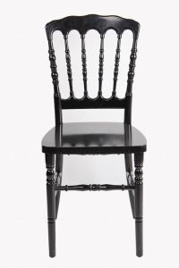 Resin Black Stackable Retal Restaurant Banquet Napoleon Chair pictures & photos