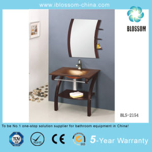 Hangzhou Professional Bathroom Cabinet Glass Vanity Factory (BLS-2154) pictures & photos