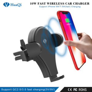 Qi Wireless 5W Plastic Car Charger Magnetic Mount Holder USB For Mobile Phone