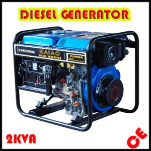 Air Cooled Single Phase 2kVA Diesel Generator for Home Use with CE