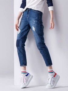 Wholesale 2017 New Fashion Ripped Skinny Woman Jeans
