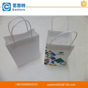 Hight Quality Fashion Promotional Custom White Kraft Paper Bag with Twisted Handles