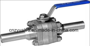 "3pieces Forged 304 Full Welded Ball Valve with Extend Port (Q61F-800LB-1"") pictures & photos"