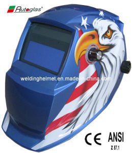 Solar Powered Printing Welding Helmet/Welding Mask (F1190DB) pictures & photos