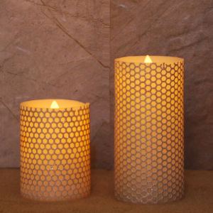 Amazing Warm Romantic Flameless Indoor Pattern Pillar Led Candle For Home Decoration Table Centerpieces Home Interior And Landscaping Analalmasignezvosmurscom