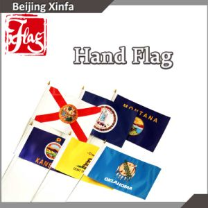 High Quality Polyester Hand Held Flags/Stick Flags