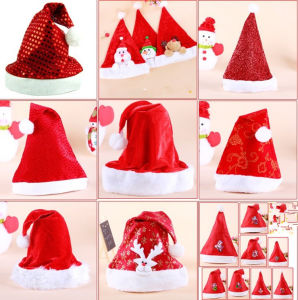 Factory Production Printing Promotion Christmas Hat pictures & photos