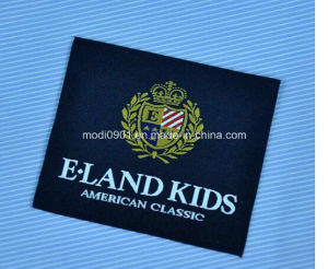 Custom Brand Name Logo Woven Label and Printed Paper Hang Tag for Clothing Woven Logo for Garment