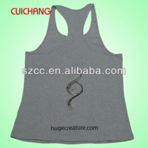 Wholesale Cotton Silk Screen Printing/Embordery Custom Design Sports Wear Women Gym Singlet Bx-024