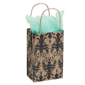 Small Distressed Damask Paper Shopper From Dollar Tree Vendor Gift Bags pictures & photos