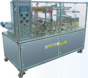 Health-Care Product Adjustable BOPP Cellophane Overwrapping Machine (SY-2005) pictures & photos