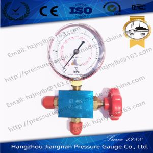 70mm 5.3MPa Refrigeration Pressure Gauge Set for R410A pictures & photos