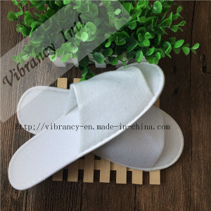 Disposable Hotel Bathroom Slippers Open Slipper pictures & photos