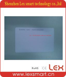 Serial Number Printing ISO11785 Printable Plastic Tk4100 White Card