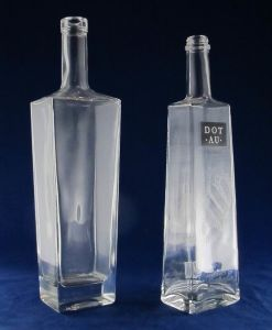 Super Flint Square Glass Bottle