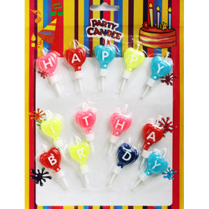 Happy Birthday Letter Candles (ZMC0060)