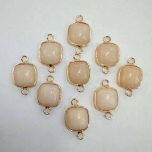 Wholesale Natural Gemstone Agate Gild Charms Square Necklaces Pendants pictures & photos