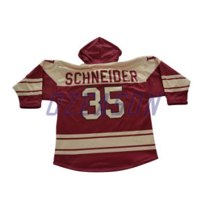 100% Polyester Breathable Cheap Hockey Jersey Hoodies (H011) pictures & photos