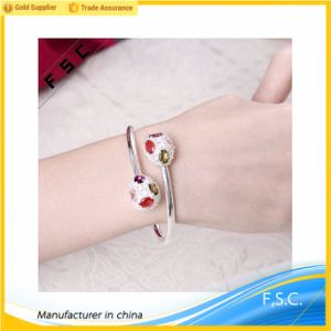 Fashion Jewelry China Copper with Silver Plated Multicolor CZ Bracelet pictures & photos