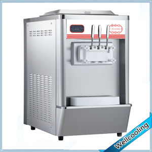 Table Model Ice Cream Machine with Pre-Cooling System pictures & photos