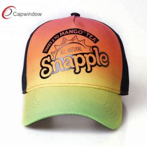 Custom 5 Panel Structured Two Tone Sublimation Printed Baseball Cap