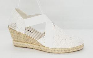 Women′s Fashion Espadrille Wedge Shoes