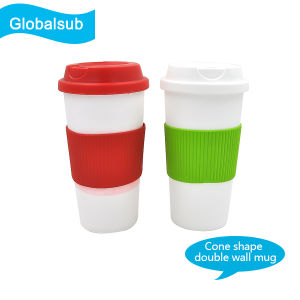 Sublimation Polymer Cone Mug of Customized Coffee Mug