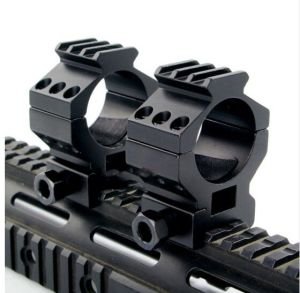 Heavy Duty 2 High 30mm Scope Ring 20mm Weaver Picatinny Rail Mount for Hunting