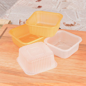 factory wholesale color food blister packing moon cake box(pet box) pictures & photos